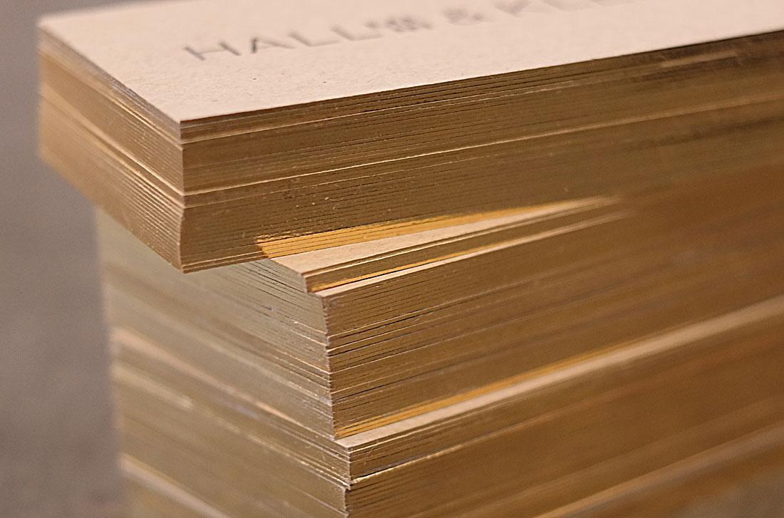 Baumgarten Grützmacher Letterpress Goldschnitt